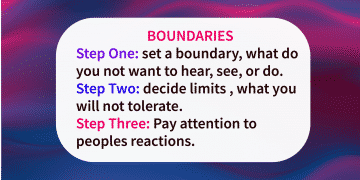 Quote of the day boundaries