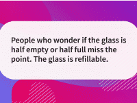 Quote of the day glass