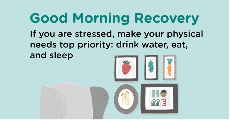 Good Morning Recovery stressed