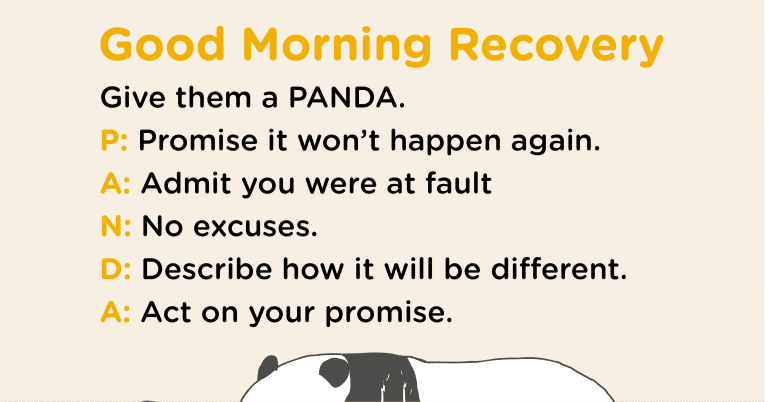 Good Morning Recovery panda