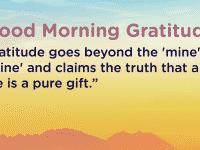 Good morning Gratitude pure