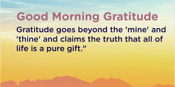 Good morning Gratitude pure