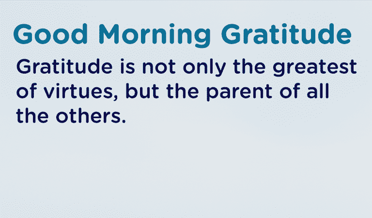 Gratitude Is A Virtue