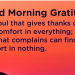 Good morning Gratitude comfort