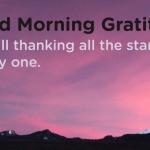 Good morning Gratitude stars