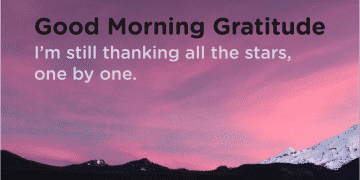 Good morning Gratitude stars