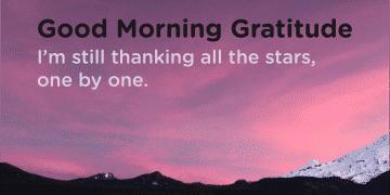Thank the stars gratitude quote