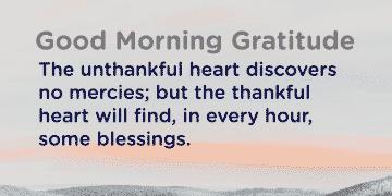 Good morning Gratitude heart