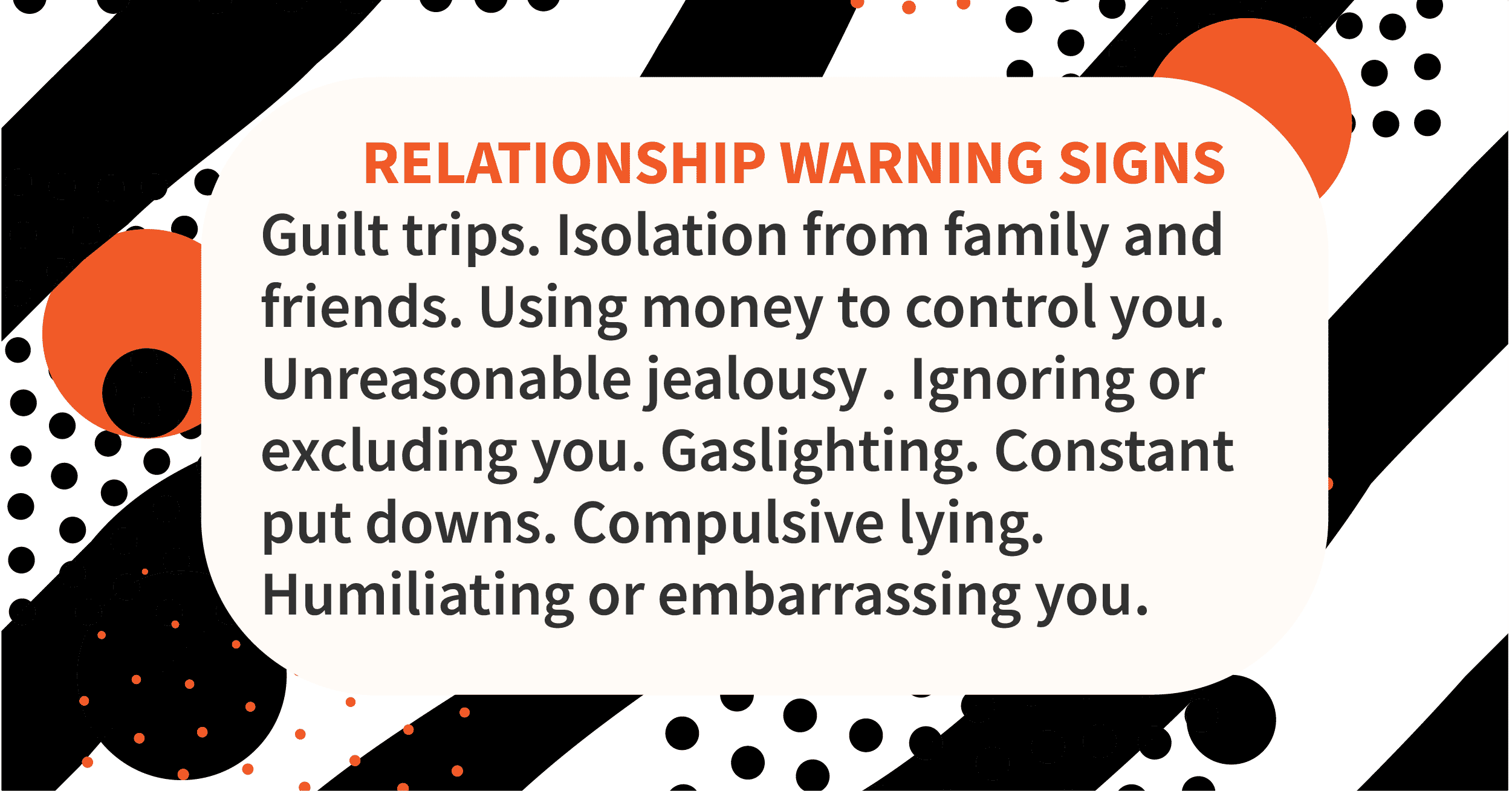 If it's a toxic relationship, run