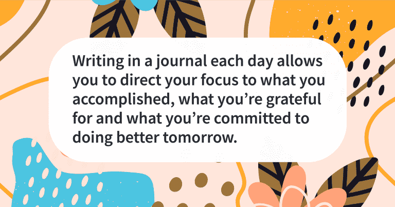 Quote of the day journaling