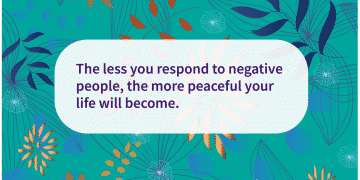 how to respond to negative people