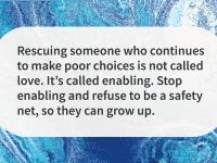 stop enabling