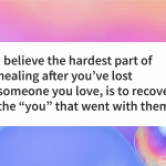 After grief recover yourself