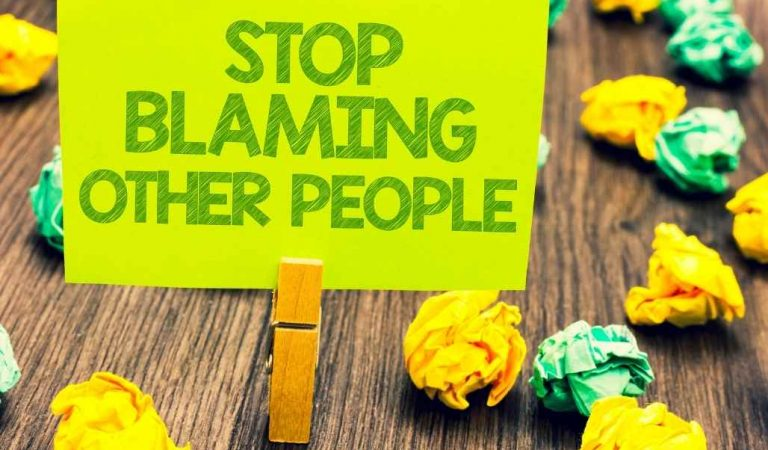 How To Stop Blaming Others And Heal