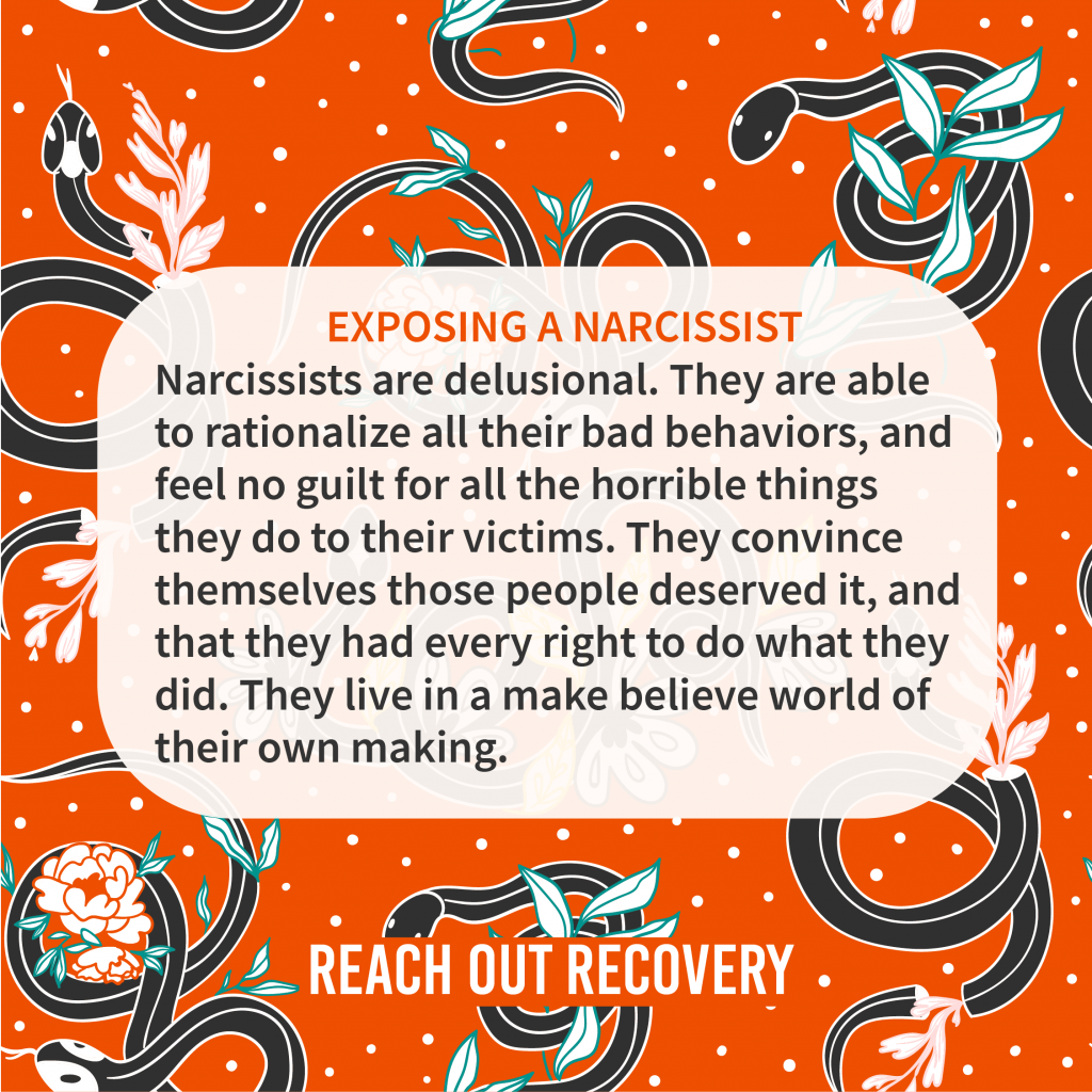 exposing a narcissist is a tricky business