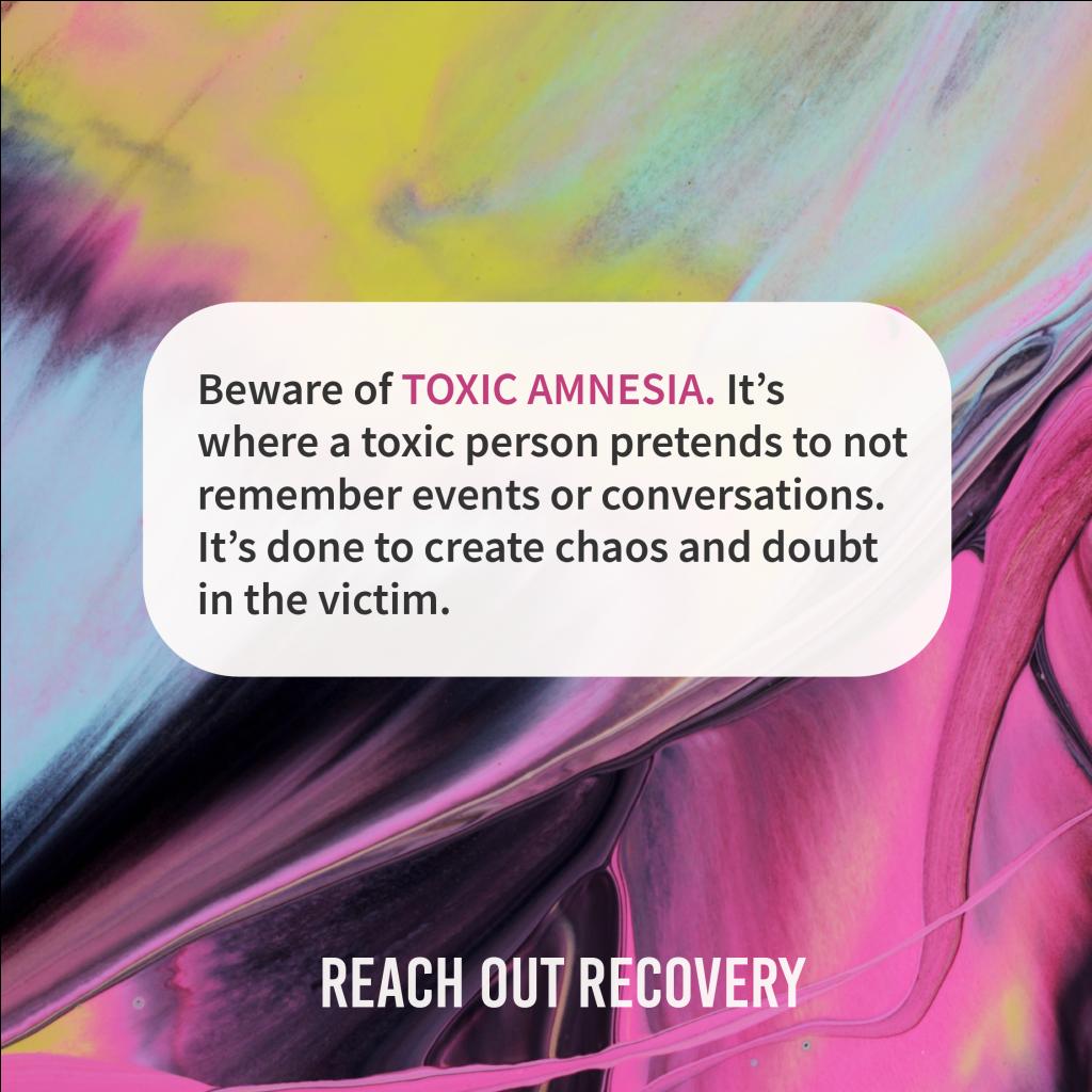 Beware of toxic amnesia