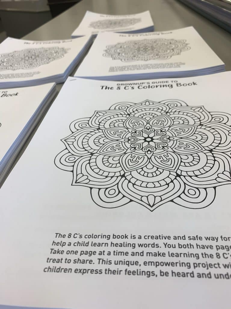 coloring book for kids has adult pages to color too