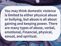 many kinds of domestic violence exist