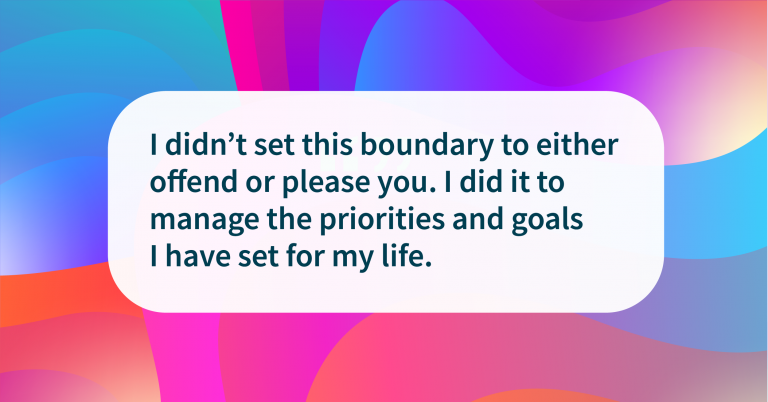 Boundary quote Time is valuable