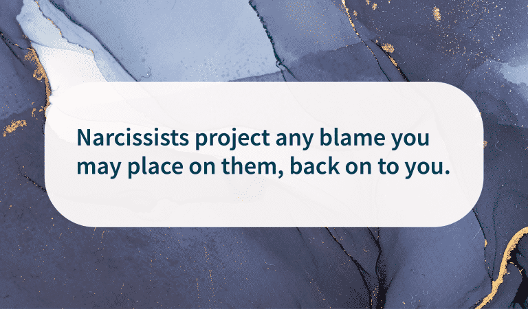 How Narcissists Project Blame