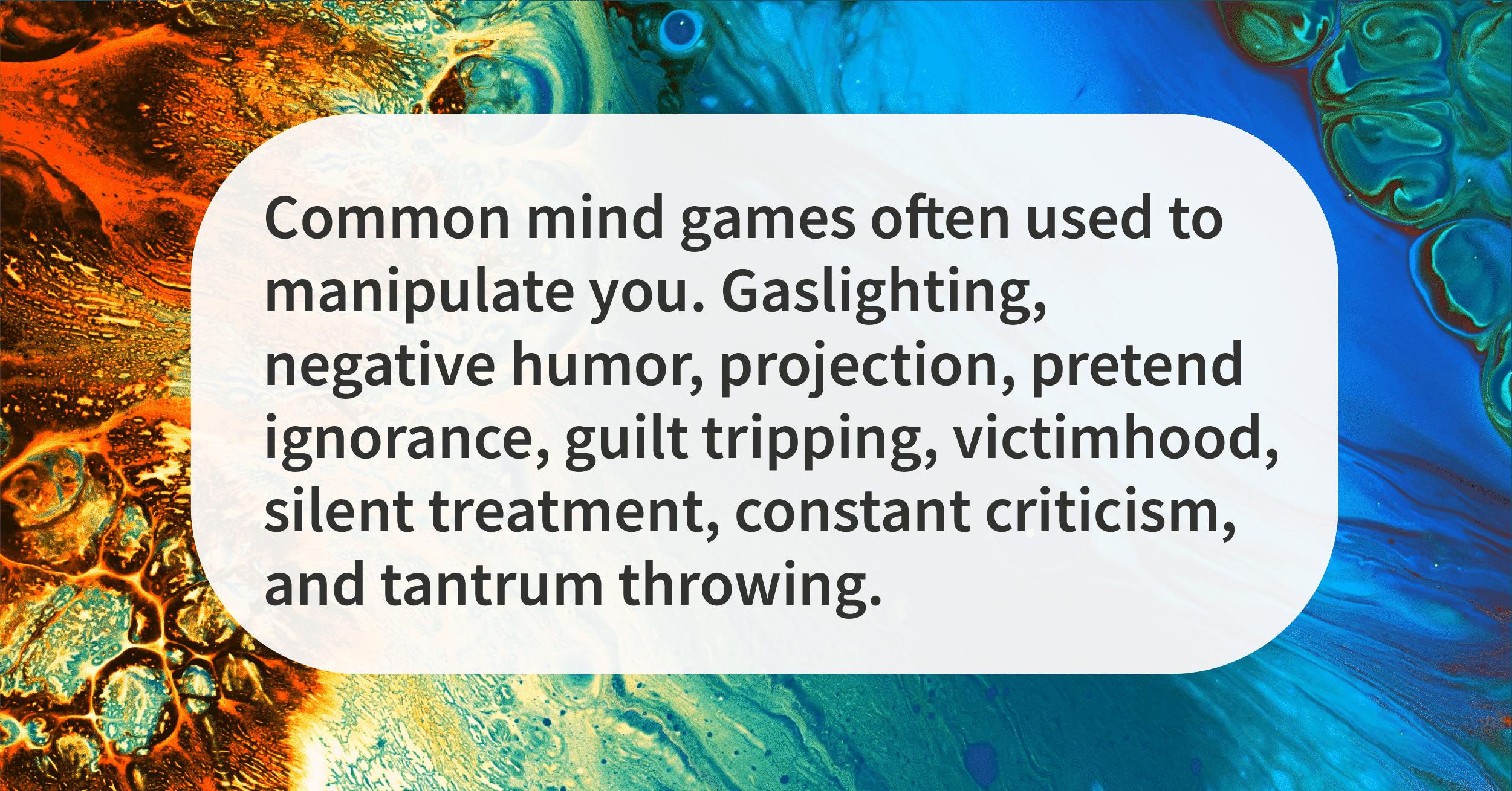 mind games that make you feel awful