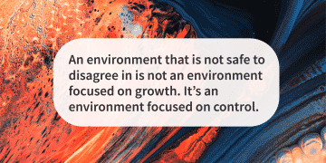 An unsafe environment to disagree