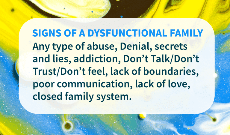 Family Quotes: Dysfunctional Family Signs