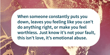 emotional abuse is one kind of domestic violence