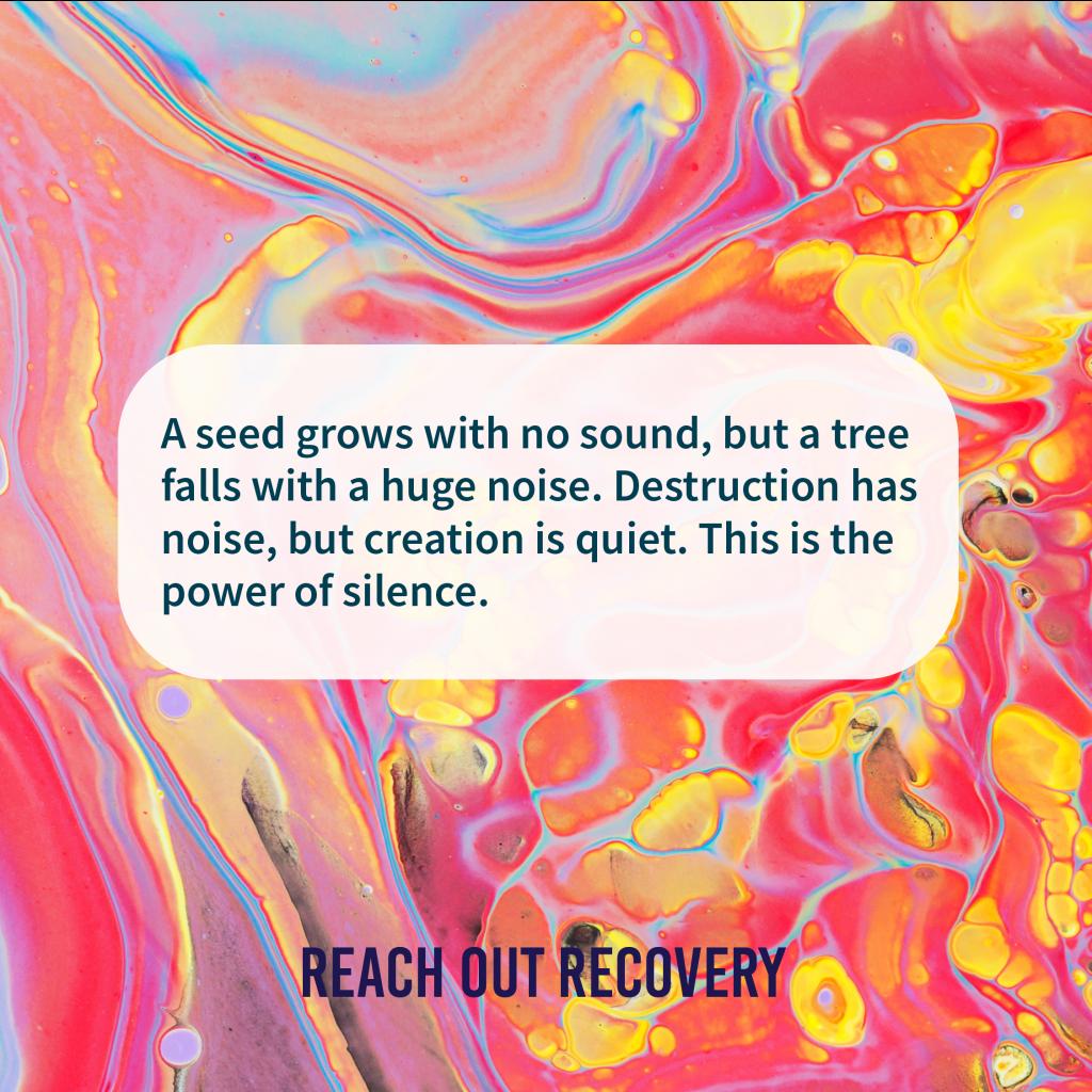 Creation is quiet but destruction is loud