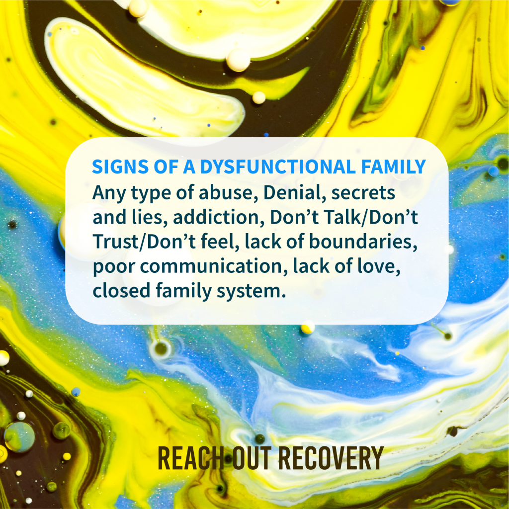 Signs of a dysfunctional family may be hidden