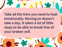 healing takes time
