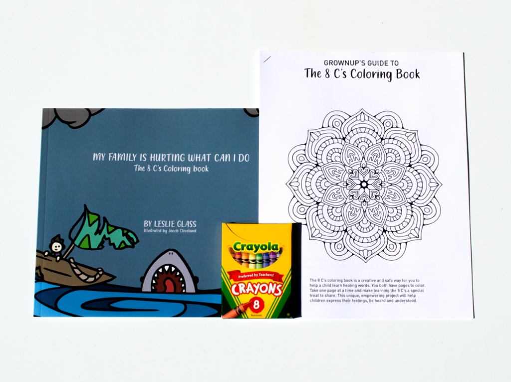 Ease your children's fear with this special coloring book