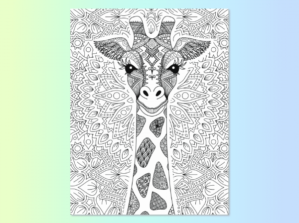 Giraffe coloring page in Find Your True Colors
