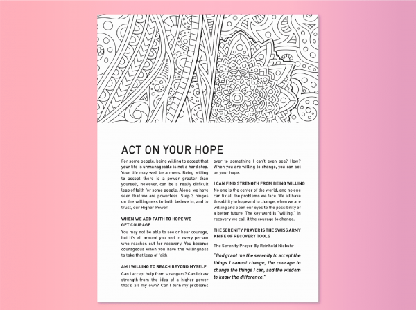 Coloring page and step for Find Your True Colors