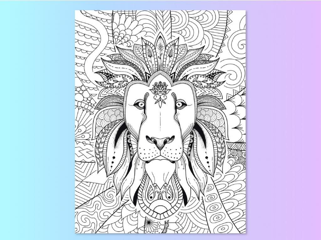 Find Your True Colors Lion coloring page