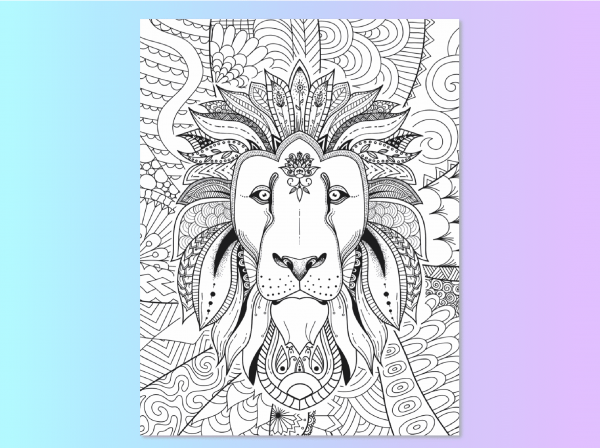 Find Your True Colors Lion coloring page