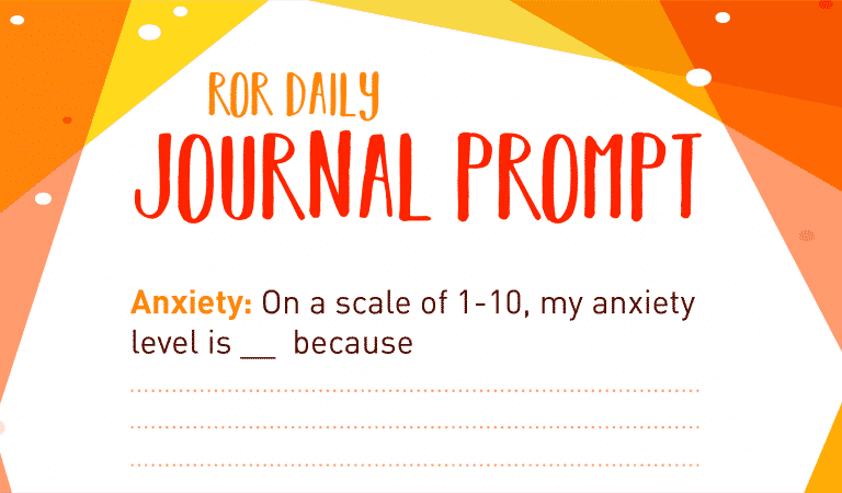 Anxiety Journal Prompt: Scale Of Worry