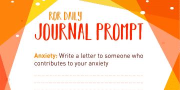 anxiety journal prompt