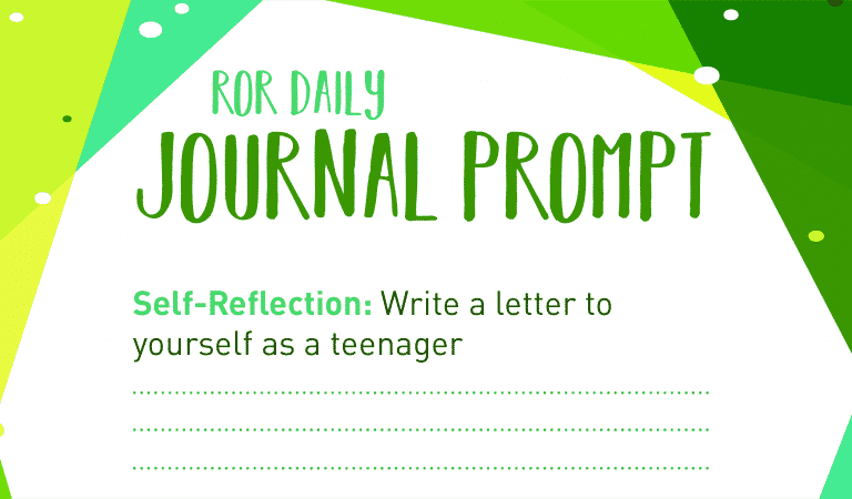 Self-Reflection Journal Prompt: Letter to self