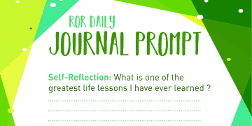 Self reflection journal prompt Life lessons