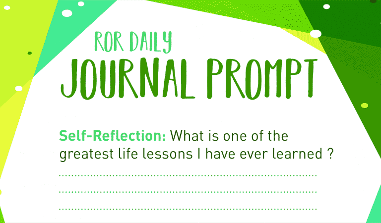 Self-Reflection Journal Prompt : Life Lessons