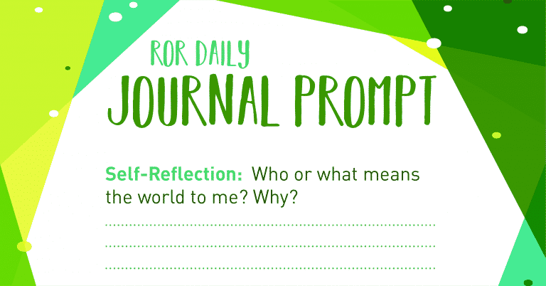 self reflection journal prompt Your world