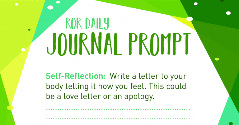 journal prompt my body