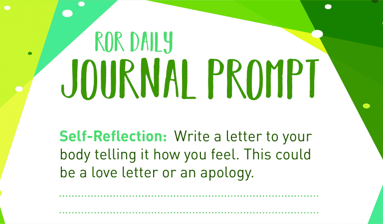 Self-Reflection Journal Prompt My Body