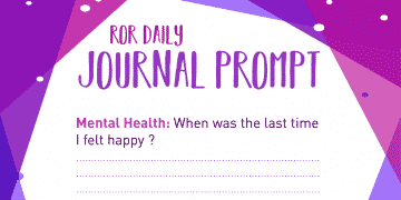 Mental Health Journal Prompt Happiness
