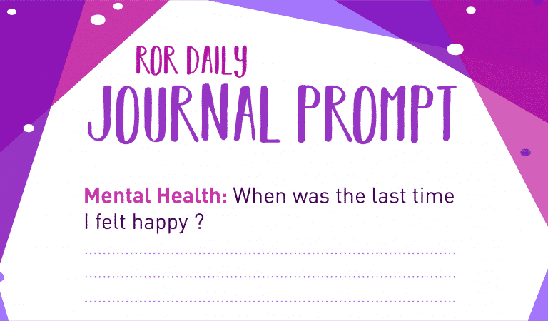 Mental Health Journal Prompt: Happiness