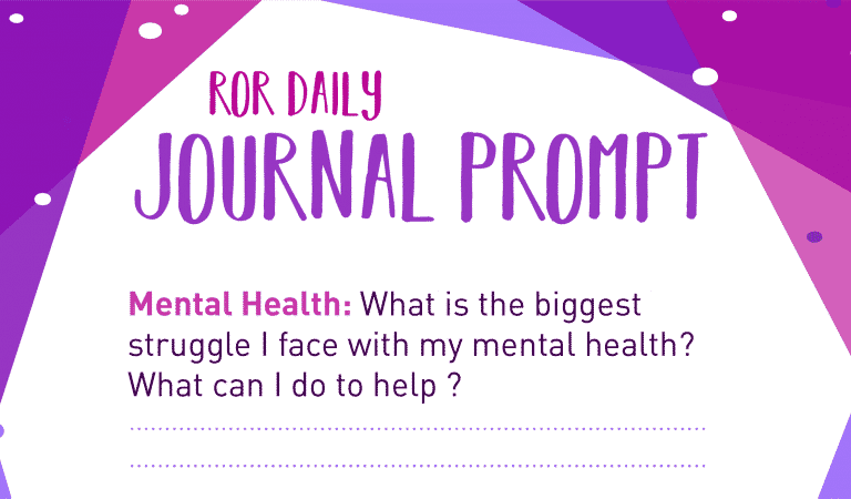 Mental Health Journal Prompt: Struggle
