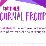 mental health journal prompt