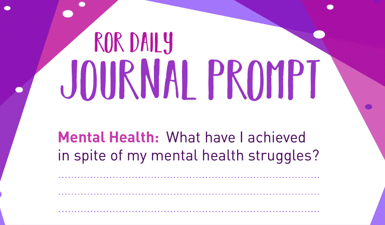 Mental Health Journal Prompt: Achievements