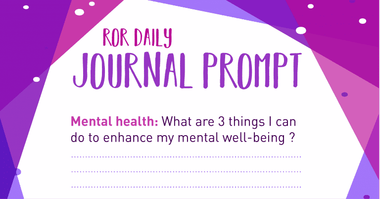 mental health journal prompt
